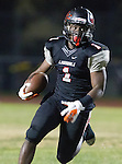 Lawndale, CA 11/11/16 - Jordan Wilmore (Lawndale #1)<br />  in action during the West Torrance - Lawndale CIF first round playoffs.  Lawndale defeated West Torrance 48-14.