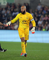 Pictured: Tim Howard goalkeeper for Everton.Tuesday 23 September 2014<br />
