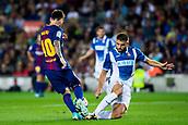 9th September 2017, Camp Nou, Barcelona, Spain; La Liga football, Barcelona versus Espanyol; Leo Messi  of FC Barcelona dribbles through the RCD Espanyol defense
