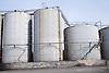 Used oil storage tanks at Liverpool docks England,