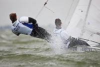 470 men  © Sander van der Borch - Medemblik - the Netherlands, May 26th 2011. Delta Lloyd Regatta in Medemblik (26/30 May 2011). Day 3. Steven LeFevre, Steven Krol, Ned 77
