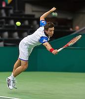 Rotterdam, The Netherlands. 13.02.2014. ABN AMRO World tennis Tournament, Igor Sijsling (NED)<br /> Photo:Tennisimages/Henk Koster