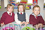 Scoil Dar Earca, Valentia Island had three new Juniors start school on Friday last pictured here l-r; Saoirse King, Marie Claire Daly & Cohen Corkery.