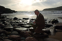 Dingle GP, Dr Micheal Fanning who  launched  'Homage', his 10th book of poetry in The Brehon Hotel, Killarney on Monday night. He is pictured at Bin Ban Strand where he wrote the poem 'Bin Ban Billows'. Dr. Fanning's poetry salutes family, friends, The far East, Achilles, Darwin, Plato, Aristotle and many more philosphers. 'Homage' is the final part of the trilogy 'Beyong Our Fears' and was  launched by Minister for Arts, Sport and Tourism  John O'Donoghue.