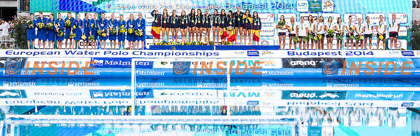 Podium<br /> SPAIN Gold Medal<br /> NETHERLANDS Silver Medal<br /> HUNGARY Bronze Medal<br /> LEN European Water Polo Championships 2014 - July 14-27<br /> Alfred Hajos -Tamas Szechy Swimming Complex<br /> Margitsziget - Margaret Island<br /> Day13 Men - July 26<br /> Photo Guido Barbagelata/Inside/