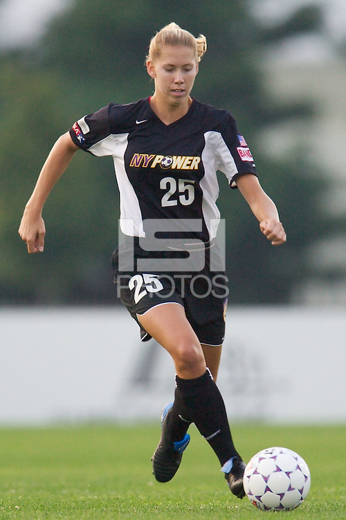 Margaret Tietjen of the Power. Tietjen assisted on Boxx's goal in the 61 minute. The Atlanta Beat and the NY Power played to a 1-1 tie on 7/26/03 at Mitchel Athletic Complex, Uniondale, NY..