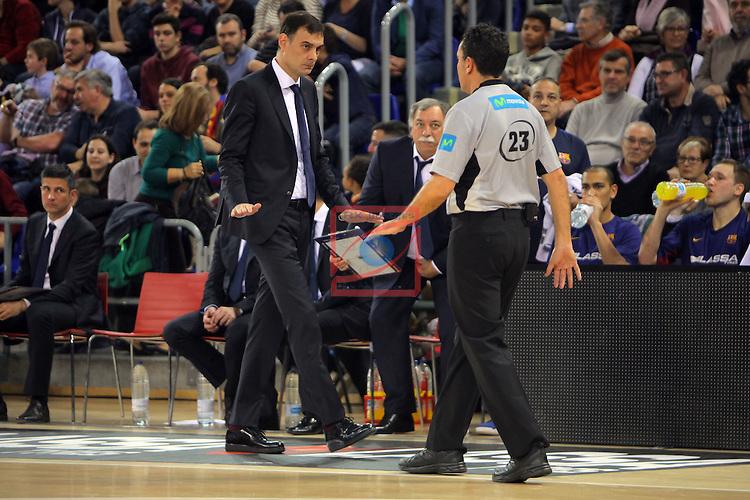 League ACB-ENDESA 2016/2017. Game: 11.<br /> FC Barcelona Lassa vs Herbalife Gran Canaria: 79-78.<br /> Georgios Bartzokas &amp; Martin Bertran.