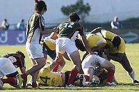 SANTO ANDRE, SP, 20 ABRIL 2013 - AMISTOSO INTERNACIONAL RUGBY - BRASIL X MEXICO - Lance do amistoso entre as equipes do Brasil e México, em preparação para o Campeonato Sul-Americano de Rugby, realizado no estádio Bruno Jose Daniel, em Santo André, no ABC paulista, na tarde deste sábado (20). A seleção brasileira ganhou a partida de 76 a 05.(FOTO: ADRIANO LIMA / BRAZIL PHOTO PRESS).