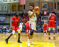 Stony Brook defeats UAlbany  69-60 in the America East Conference tournament quaterfinals at the  SEFCU Arena, Mar. 3, 2018.  Alex Foster (#34).