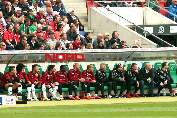 09.05.2015, HDI Arena, Hannover, GER, 1.FBL, Hannover 96 vs SV Werder Bremen im Bild <br /> <br /> Auswechselbank Hannover<br /> <br /> <br /> Foto &copy; nordphoto / Rust