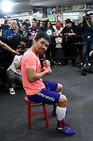 LOS ANGELES, CA - JANUARY 9: Manny Pacquiao at the Manny Pacquiao and Adrien Broner Los Angeles Media Day, ahead of their January 19th fight in Las Vegas, at the Wild Card Boxing Club in Los Angeles, California on January 9, 2019.  <br /> CAP/MPI/DAM<br /> &copy;DAM/MPI/Capital Pictures