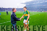 Jim Gavin and Aidan O'Mahony at the end of the Kerry v Dublin All Ireland Senior Football Final in Croke Park on the 20th September 2015.