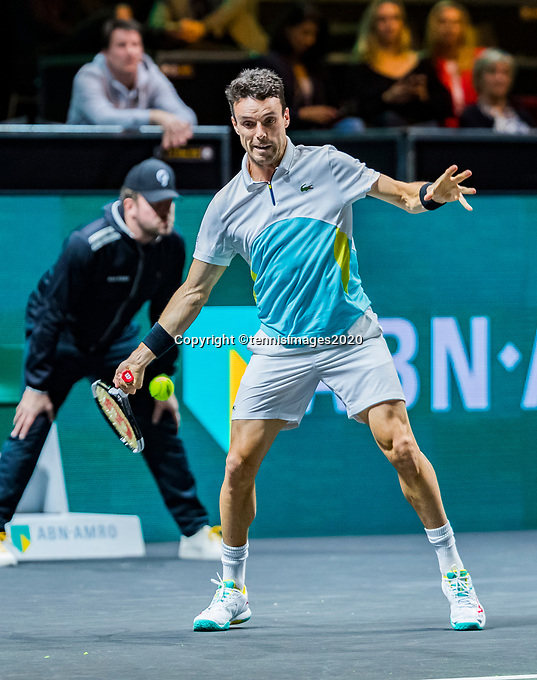 Rotterdam, The Netherlands, 10 Februari 2020, ABNAMRO World Tennis Tournament, Ahoy, Roberto Bautista Agut (ESP),  <br /> Photo: www.tennisimages.com