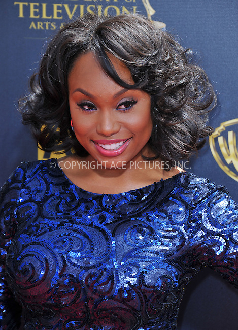 WWW.ACEPIXS.COM<br /> <br /> April 26 2015, LA<br /> <br /> Angell Conwell arriving at The 42nd Annual Daytime Emmy Awards at Warner Bros. Studios on April 26, 2015 in Burbank, California.<br /> <br /> By Line: Peter West/ACE Pictures<br /> <br /> <br /> ACE Pictures, Inc.<br /> tel: 646 769 0430<br /> Email: info@acepixs.com<br /> www.acepixs.com