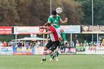 04.09.2018, Hoheellern-Stadion, Leer, GER, FSP, Werder Bremen (GER) vs FC Emmen (NED)<br /> <br /> DFL REGULATIONS PROHIBIT ANY USE OF PHOTOGRAPHS AS IMAGE SEQUENCES AND/OR QUASI-VIDEO.<br /> <br /> im Bild / picture shows<br /> Wouter Marinus (FC Emmen #07) im Duell / im Zweikampf mit Nuri Sahin (Werder Bremen #17), <br /> <br /> Foto © nordphoto / Ewert