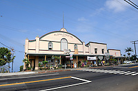 Built in 1932, the Aloha Theatre in Kainaliu is a fully operational theatre. Kainaliu, Kona, Big Island, Hawaii