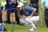 Tyrrell Hatton (ENG) on the 14th green during Thursday's Round 1 of the Dubai Duty Free Irish Open 2019, held at Lahinch Golf Club, Lahinch, Ireland. 4th July 2019.<br /> Picture: Eoin Clarke | Golffile<br /> <br /> <br /> All photos usage must carry mandatory copyright credit (© Golffile | Eoin Clarke)