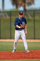 Southern Maine Huskies first baseman Sam Stauble (9) during a game against the St. Scholastica Saints on March 20, 2016 at Lake Myrtle Park in Auburndale, Florida.  Southern Maine defeated St. Scholastica 5-3.  (Mike Janes/Four Seam Images)