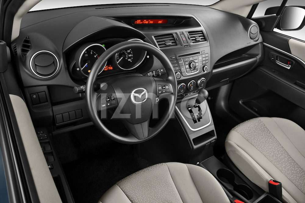 High angle dashboard view of a 2012 Mazda Mazda5