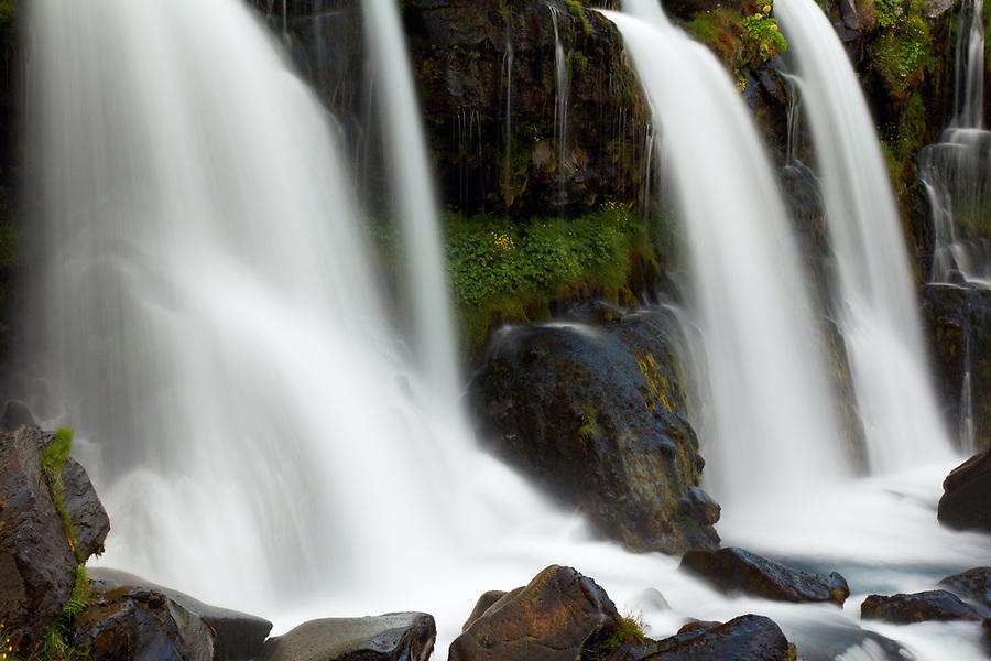 Merkjárfoss waterfall, South Region, Iceland