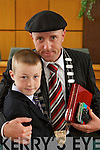 Michael Healy-Rae, new Mayor of.Kerry, elected at Kerry County Councils.meeting on Friday, pictured with.son Kevin.
