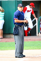 July 10th 2008: Home Umpire Yute Niide during a game at the Home of the Owlz Stadium in Orem, UT.  Photo by:  Matthew Sauk/Four Seam Images