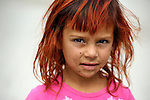"THIS PHOTO IS AVAILABLE AS A PRINT OR FOR PERSONAL USE. CLICK ON ""ADD TO CART"" TO SEE PRICING OPTIONS.   A girl in a largely Roma, Turkish-speaking neighborhood of Dobrich, in the northeast of Bulgaria."