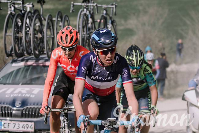 Aude Biannic (FRA/Movistar)<br /> <br /> 5th Strade Bianche WE (1.WWT)<br /> One day race from Siena to Siena (136km)<br /> <br /> ©JojoHarper for kramon