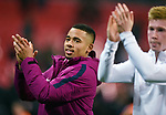 Gabriel Jesus of Manchester City and Kevin De Bruyne of Manchester City at the end of the premier league match at the Wembley Stadium, London. Picture date 14th April 2018. Picture credit should read: Robin Parker/Sportimage