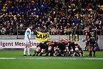 Super Rugby - Hurricanes v Chiefs at Westpac Stadium, Wellington, New Zealand on Friday 13 April 2018.<br /> Photo by Masanori Udagawa. <br /> www.photowellington.photoshelter.com