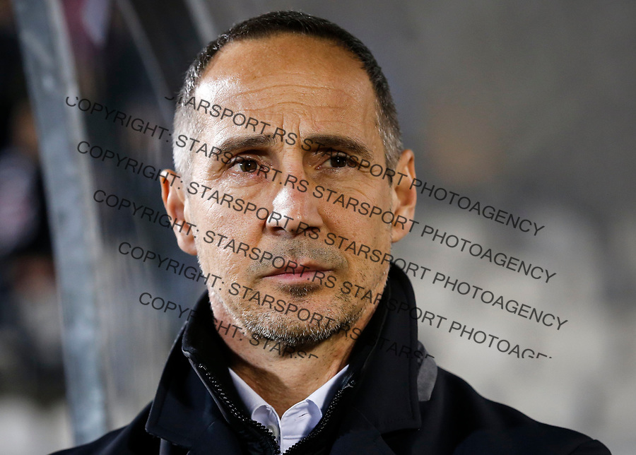 BELGRADE, SERBIA - NOVEMBER 23: Head coach Adi Hutter of Young Boys looks on prior to the UEFA Europa League group B match between Partizan and BSC Young Boys at Stadium Partizan on November 23, 2017 in Belgrade, Serbia. (Photo by Srdjan Stevanovic/Getty Images)