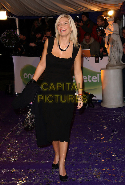 KATE THORNTON.British Comedy Awards 2005 at the London Television Studios, London, SE1, UK..December 14th, 2005.Ref: FIN.full length black dress.www.capitalpictures.com.sales@capitalpictures.com.© Capital Pictures.