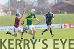 In Action Kerry's Shane Nolan gets away from Westmeath's Eoin Price at the Kerry v Westmeath at Austin Stack Park on Sunday