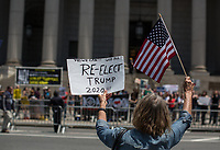 NEW YORK JUNE 10: Trump supporters confront  Muslims  supporters during an anti-sharia law rally organized by ACT for America on June 10, 2017 at Foley square in New York. Photo by VIEWpress/Maite H. Mateo.