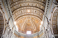Gold adorns the ceiling of St. Peter's Basilica during a tour of the Vatican on Thursday, Sept. 24, 2015. (Photo by James Brosher)