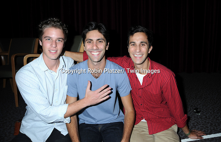 "Henry Joost, Yanev Shulman and Ariel Shulman at screening of ""Catfish""  on September 16, 2010 at The DGA Theatre in New York City."
