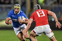 Angelo Esposito Italy, Jonathan Davies Wales.<br />  <br /> Roma 9-02-2019 Stadio Olimpico<br /> Rugby Six Nations tournament 2019  <br /> Italy - Wales <br /> Foto Antonietta Baldassarre / Insidefoto