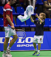 13-12-12, Rotterdam, Tennis Masters 2012, Ballboy gets a towel