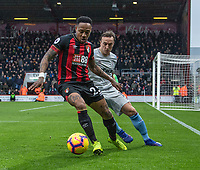 West Ham United's Mark Noble (right) vies for possession with Bournemouth's Nathaniel Clyne (left) <br /> <br /> Photographer David Horton/CameraSport<br /> <br /> The Premier League - Bournemouth v West Ham United - Saturday 19 January 2019 - Vitality Stadium - Bournemouth<br /> <br /> World Copyright © 2019 CameraSport. All rights reserved. 43 Linden Ave. Countesthorpe. Leicester. England. LE8 5PG - Tel: +44 (0) 116 277 4147 - admin@camerasport.com - www.camerasport.com