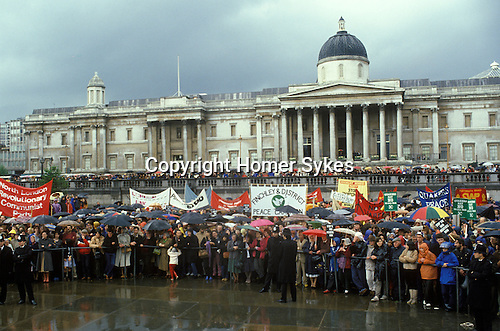 """Stop the War"" Ant Falklands war demo Trafalgar Square London  1982"
