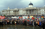 """Stop the War"" Ant Falklands war demo Trafalgar Square London  1982"