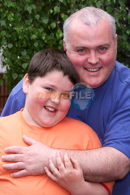 James O'Neill and his son..Picture: Newsfile