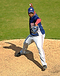 9 March 2007: Washington Nationals pitcher Emiliano Fruto on the mound against the Baltimore Orioles at Fort Lauderdale Stadium in Fort Lauderdale, Florida. <br /> <br /> Mandatory Photo Credit: Ed Wolfstein Photo