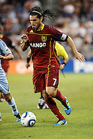 Fabian Espindola Real Salt Lake forward in action... Sporting Kansas City defeated Real Salt Lake 2-0 at LIVESTRONG Sporting Park, Kansas City, Kansas.