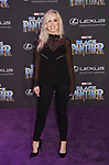 HOLLYWOOD, CA - JANUARY 29: Actor Skyler Shaye attends the premiere of Disney and Marvel's 'Black Panther' at  the Dolby Theater on January 28, 2018 in Hollywood, California.