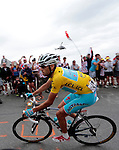 101 Tour de France 2014 - <br /> Vincenzo Nibali (ITA) Astana Pro Team competes during stage fourteenth of the cycling road race 'Tour de France' at Col d'Izoard, on July 19, 2014.
