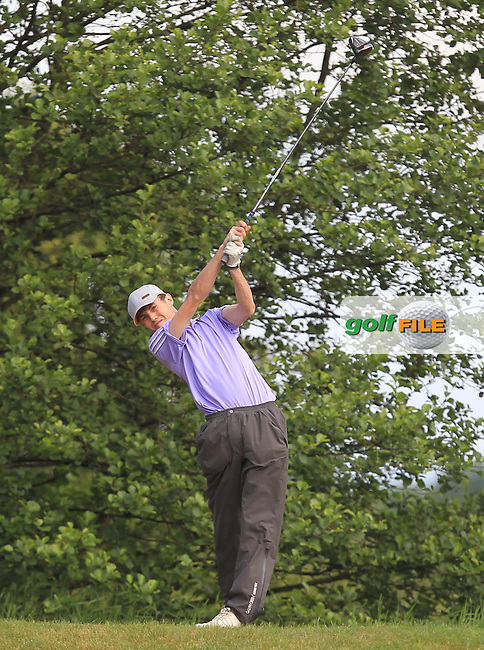 Darragh Conlon (Athenry) on the 12th tee during Round 3 of the 2016 Connacht Strokeplay Championship at Athlone Golf Club on Sunday 12th June 2016.<br />