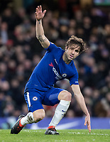Cesc Fabregas of Chelsea during the Premier League match between Chelsea and West Bromwich Albion at Stamford Bridge, London, England on 12 February 2018. Photo by Andy Rowland.