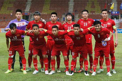 U-22U-22 Vietnam team group line-up (VIE), MARCH 29, 2015 - Football / Soccer : AFC U-23 Championship 2016 Qualification Group I match between U-22 Japan 2-0 U-22 Vietnam at Shah Alam Stadium in Shah Alam, Malaysia. (Photo by Sho Tamura/AFLO SPORT)