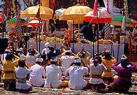 Batur Temple ceremony Bali Indonesia.